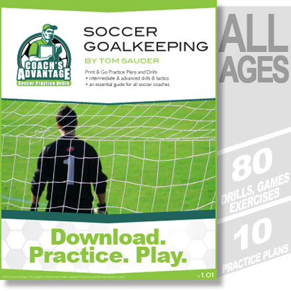 Soccer Goalkeeping PDF eBook. 80 drills. 10 practice plans.
