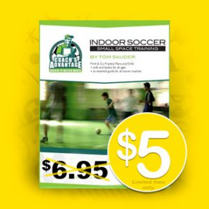 Indoor Soccer practice book for $5