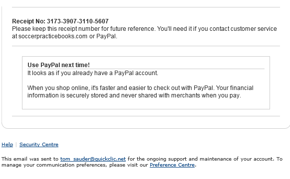 PayPal Email Conf 2